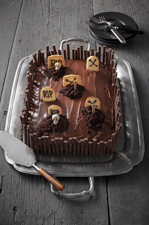 Grave Intentions Cake