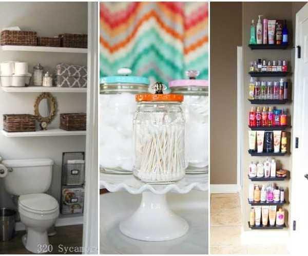 20 Bathroom Organization Ideas + Hacks