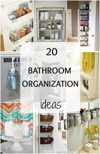Bathroom Organization Ideas + Hacks - 20 Tips To Do Now!