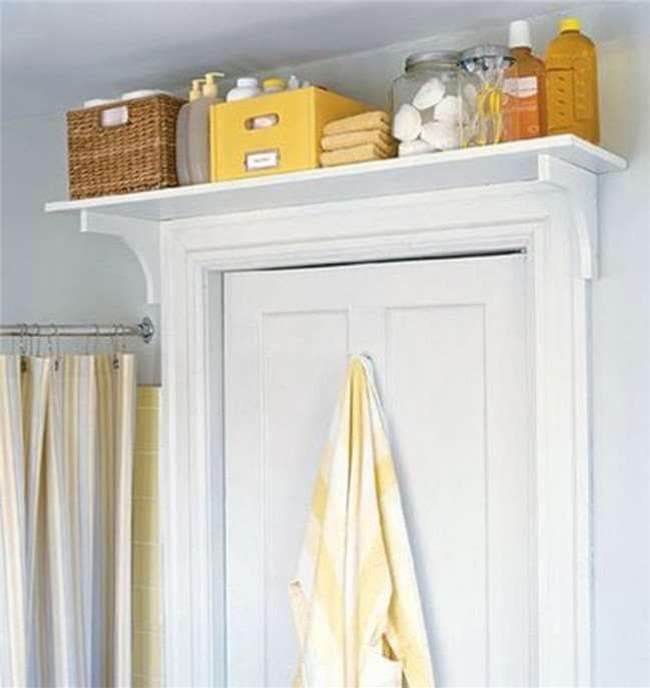 DIY Doorway Shelf by Cozy Cottage Cute