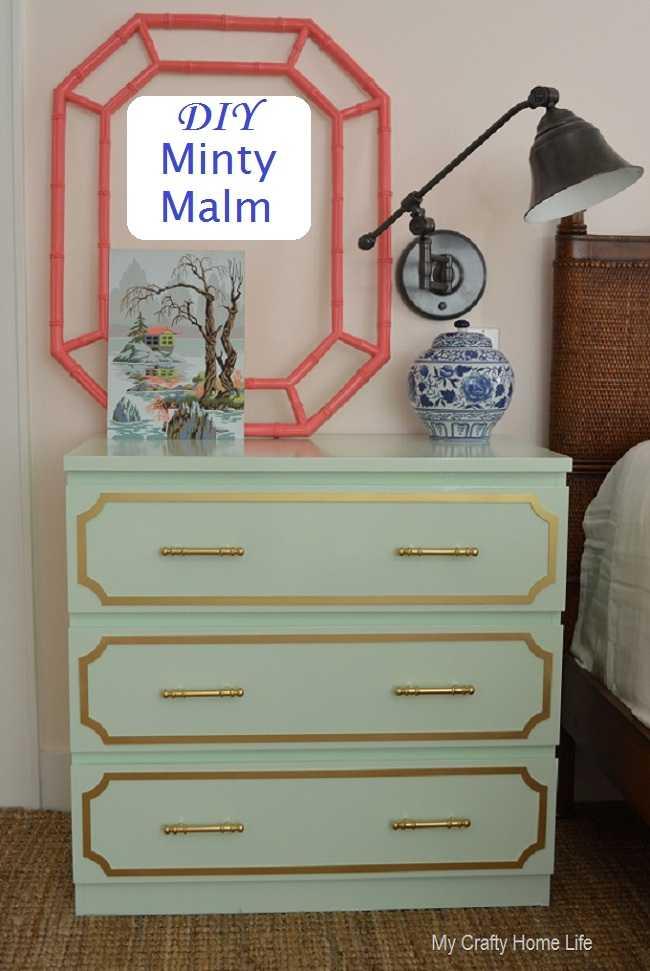 IKEA Hack Minty Malm Dresser
