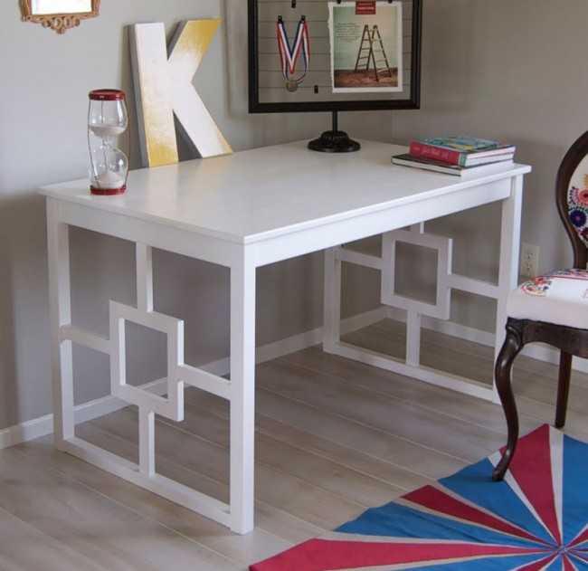 IKEA Hack Table into Chic Desk
