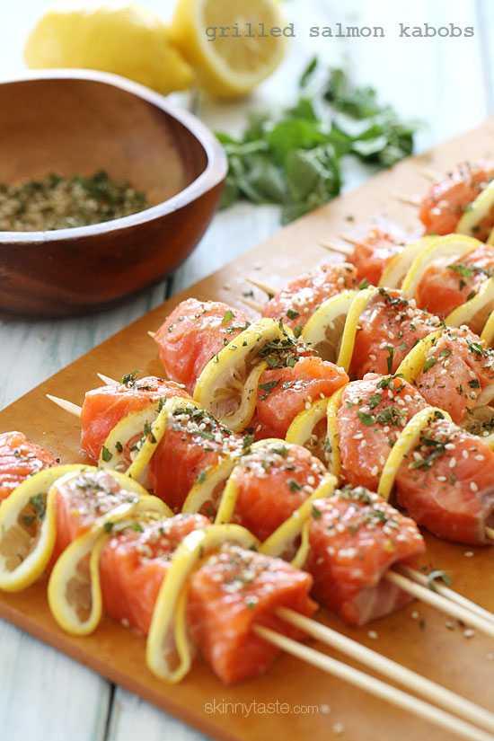Grilled Salmon Lemon Kebobs, 25 Best Appetizers to Serve