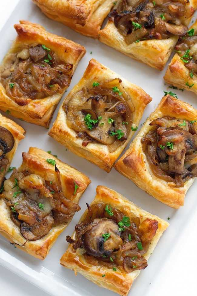 Gruyere Mushroom Caramelized Onion Bites, 25 Best Appetizers to Serve