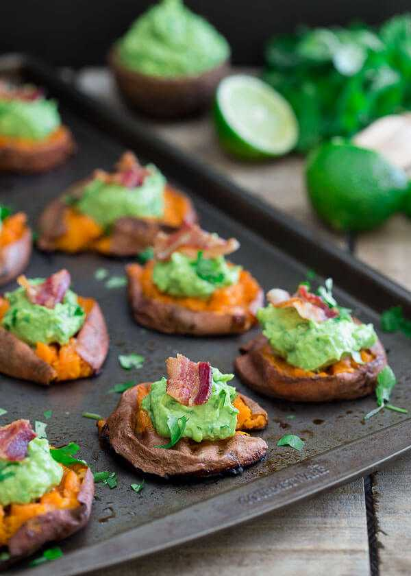 Smashed Sweet Potato Guacamole Bites, 25 Best Appetizers to Serve