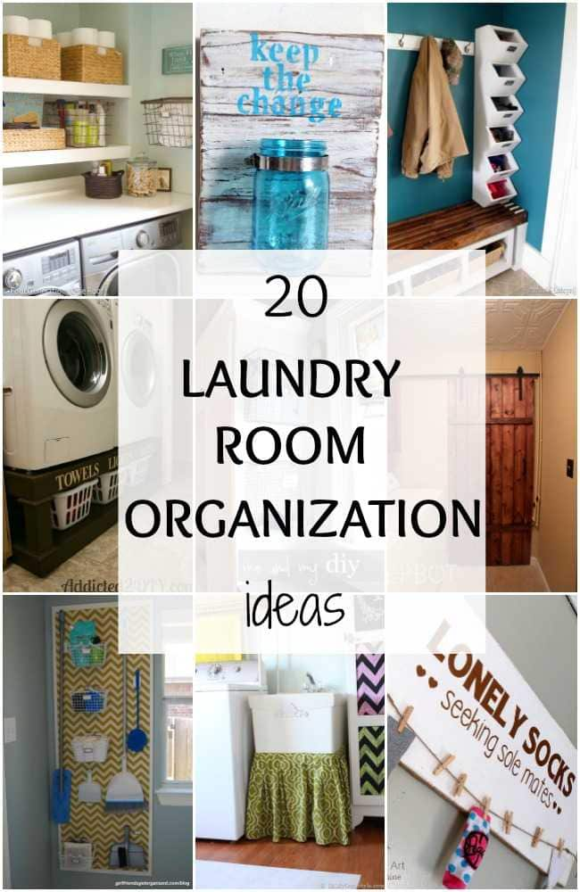 20 Laundry Room Organization Ideas + Hacks  A Blissful Nest