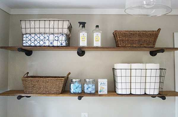 20 laundry room organization ideas hacks a blissful nest - Laundry room shelving ideas ...