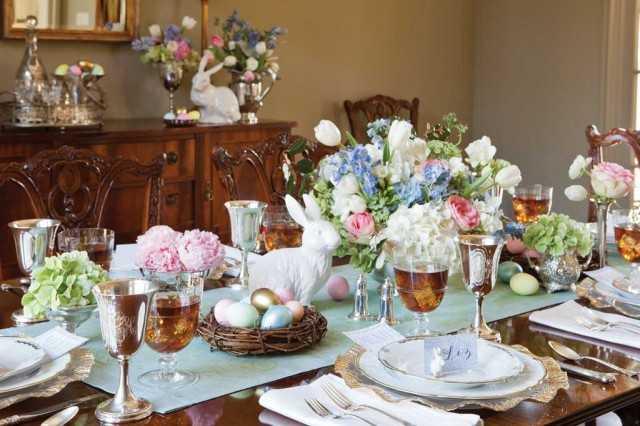 elegant easter table by celebratemag 10 easter table ideas