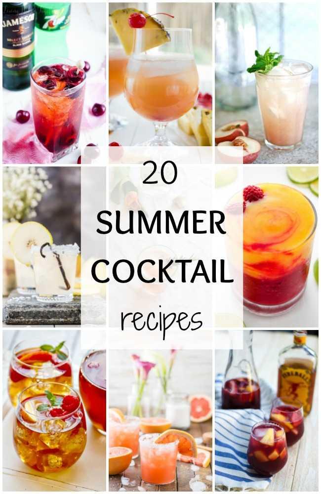 20 Best Summer Cocktails via A Blissful Nest