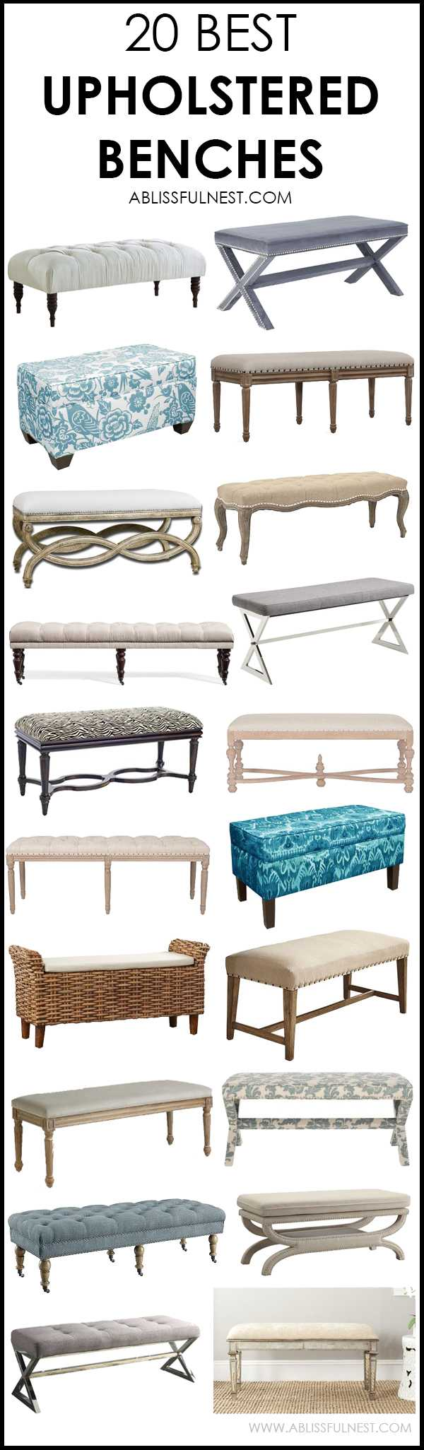 20 Best Upholstered Benches Friday Favorite Finds