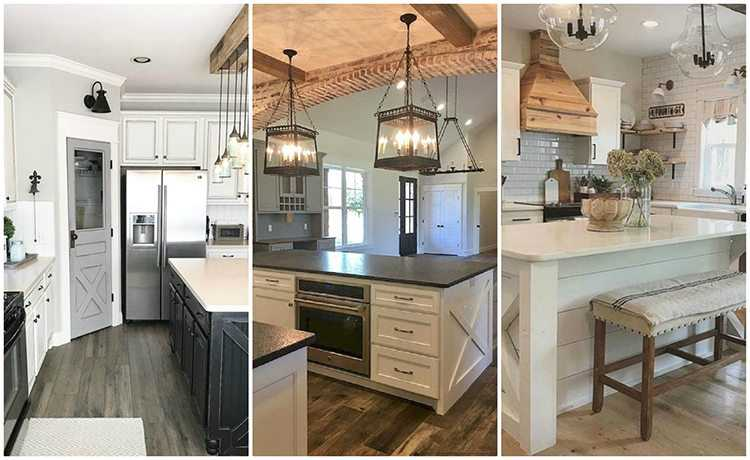Farmhouse Kitchen Ideas for Fixer Upper Style + Industrial Flare