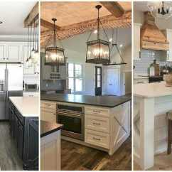Farmhouse Kitchen Cabinets Wall Mounted Ideas For Fixer Upper Style Industrial Flare Love These Gorgeous Kitchens