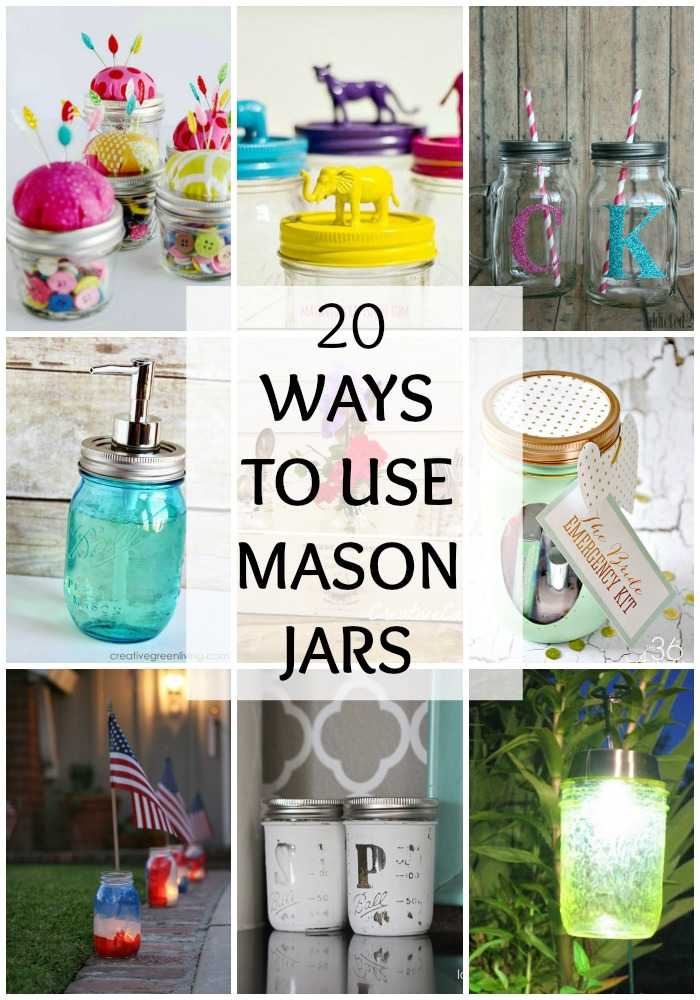20 Ways to Use Mason Jars