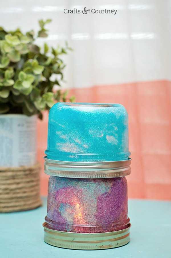 Mason Jar Nightlights, 20 Ways to Use Mason Jars via A Blissful Nest