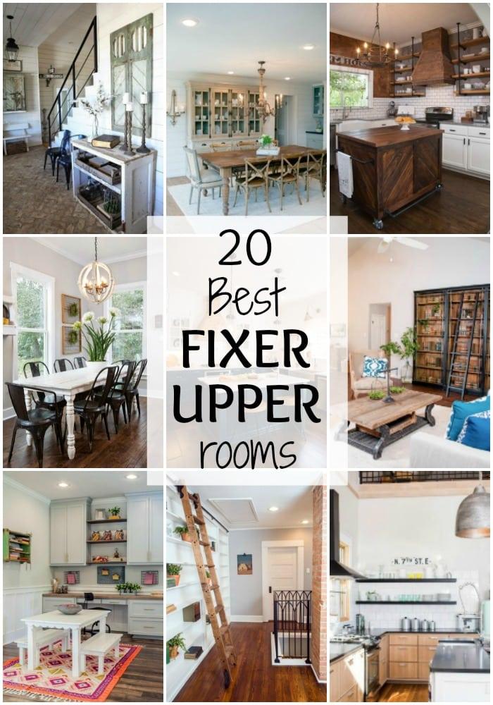 20 Best Fixer Upper Rooms via A Blissful Nest