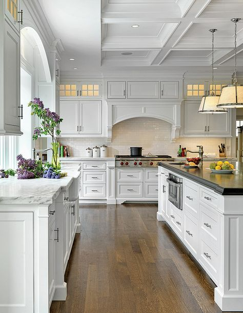 These gorgeous white kitchen ideas range from modern to farmhouse and all in between. Get great ideas on white kitchens with all these home décor tips and designer ideas via A Blissful Nest. https://ablissfulnest.com/ #whitekitchen #kitchenideas #kitchens #farmhouse #farmhousestyle