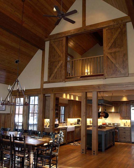Rocky Mountain Log Homes, 20 Sliding Barn Door Ideas via A Blissful Nest