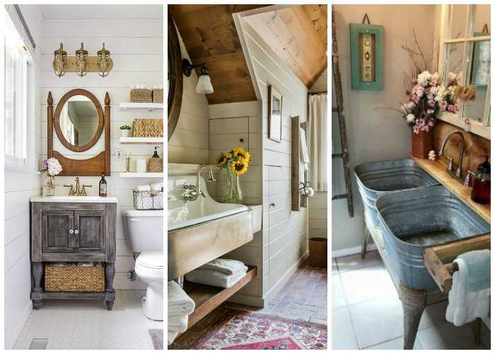 Fixer Upper Outdoor Lighting 20 Best Farmhouse Bathrooms To Get That Fixer Upper Style!