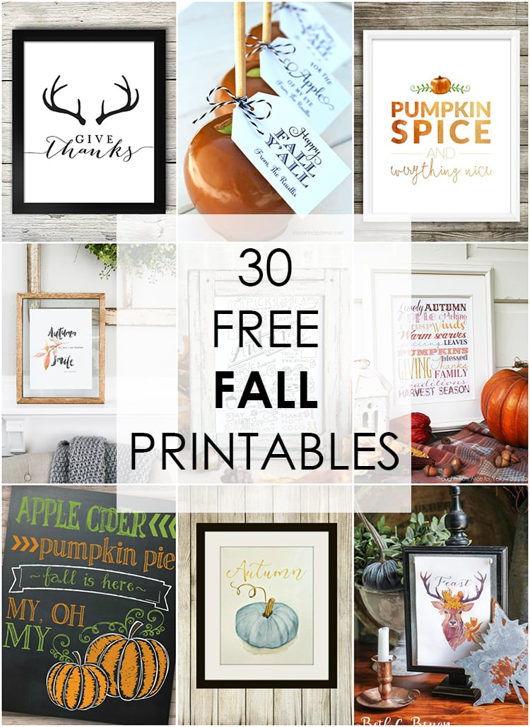 photo regarding Free Fall Printable named 30 Free of charge Tumble Printables - A Blissful Nest