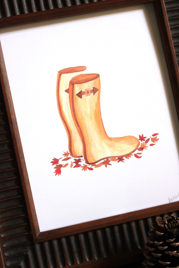 Wellies Boots Craftaholics Anonymous, 30 Free Fall Printables