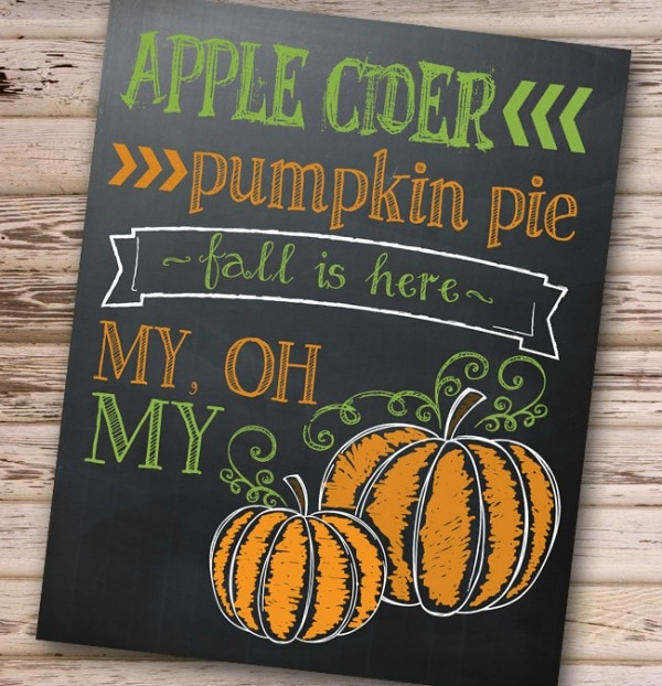 I should be mopping the floor Fall is Here, 30 Free Fall Printables