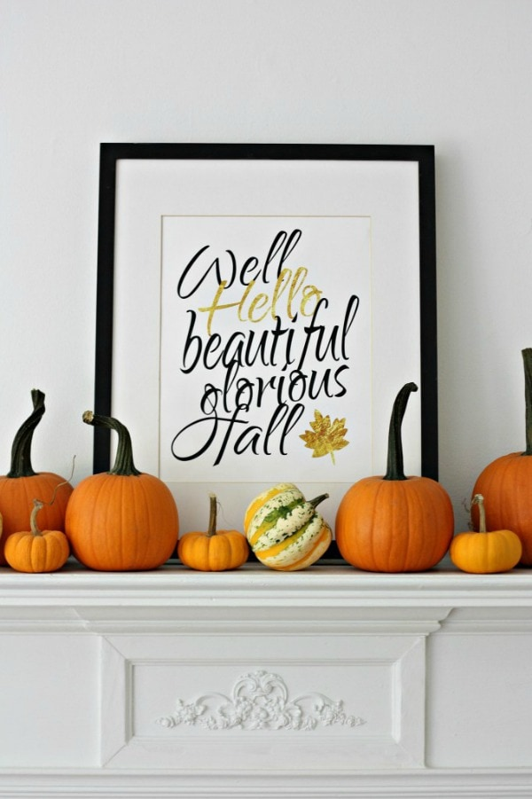 Well Hello Fall Nest of Posies, 30 Free Fall Printables