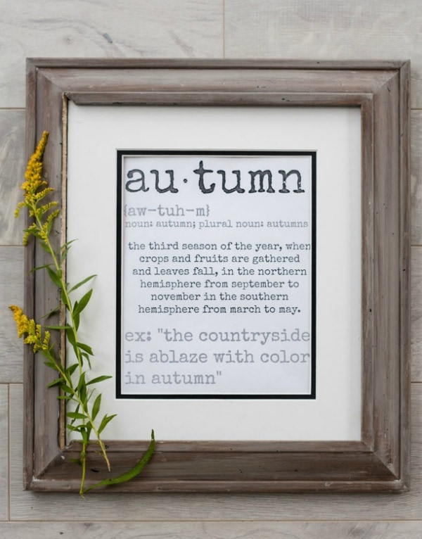 The Lily Pad Cottage Meaning of Autumn, 30 Free Fall Printables