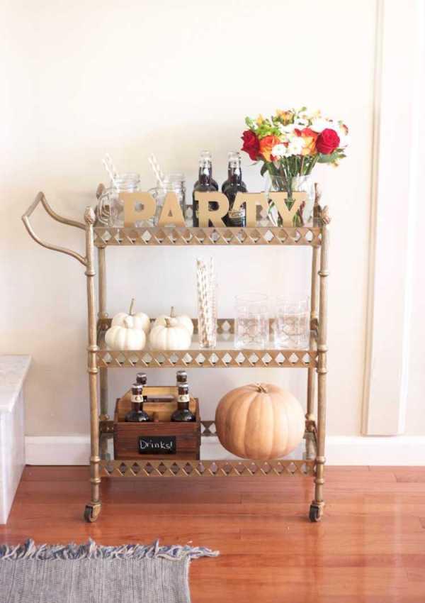 Top Five Tips for a Festive Fall Bar Cart