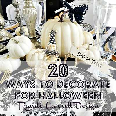 Get 20 tips on how to decorate for Halloween from some of the top home bloggers! These tips are amazing! https://ablissfulnest.com/ #halloweendecor #halloweendecorating