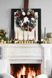 Diy Taper Candles And Thanksgiving Mantel - Blissful Nest