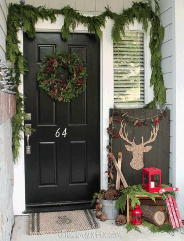 Festive Christmas Decorating Ideas Your Front Porch Diy Decorations How To Make A Tree Corkboard