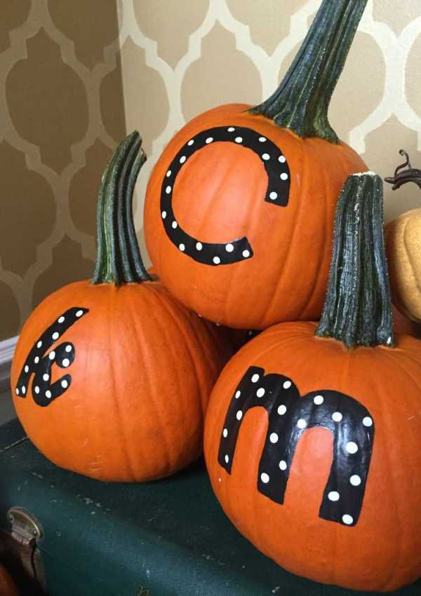 Personalized Thanksgiving Pumpkins