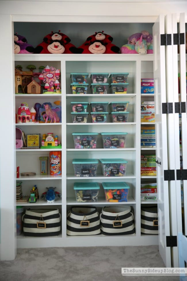 Sunny Side Up, Playroom Organization Ideas via A Blissful Nest