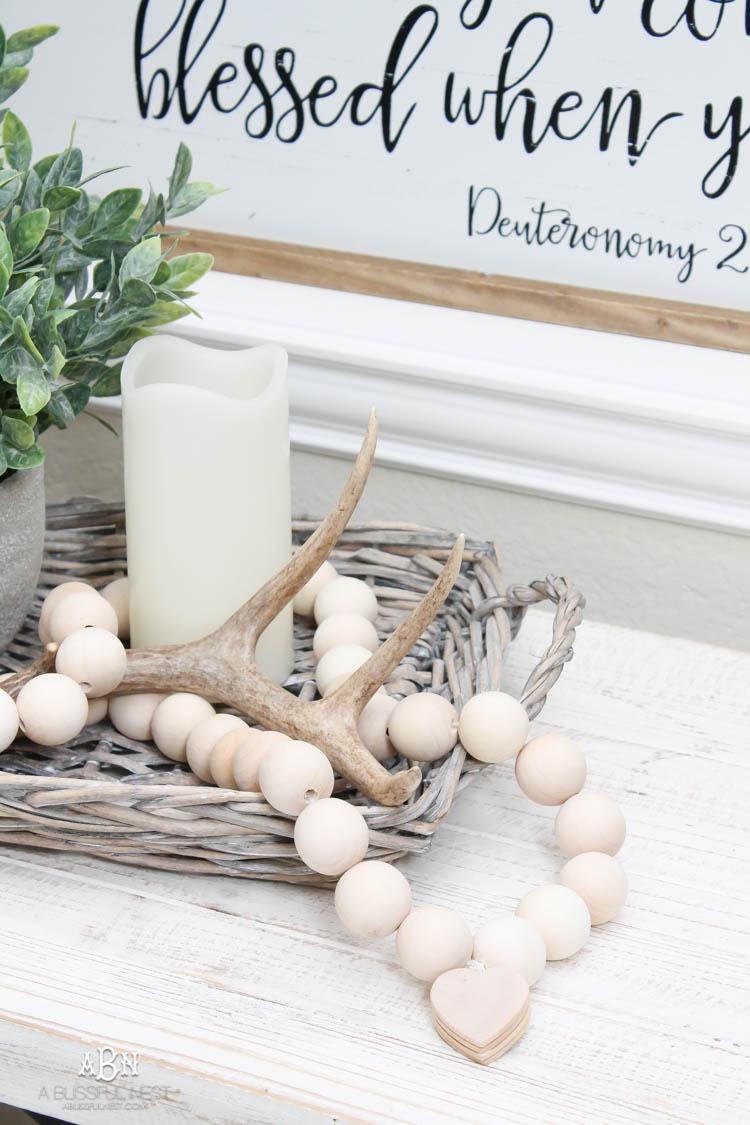 DIY Farmhouse Wood Prayer Beads Tutorial To Add Farmhouse