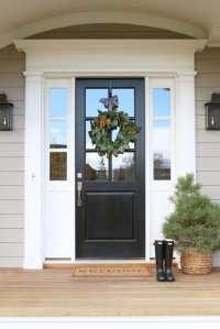 Black Front Door Paint Color | Shapeyourminds.com