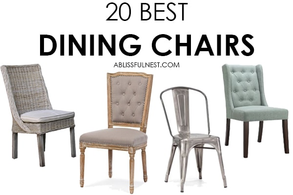 This is the best selection of gorgeous dining chairs that are affordable!