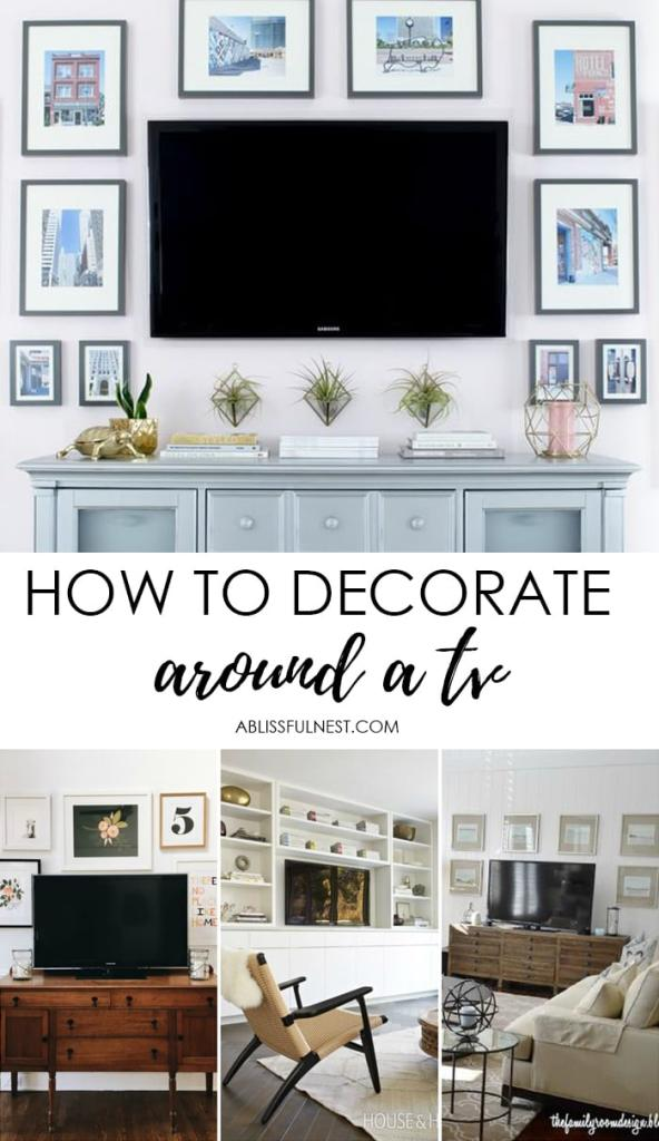 How To Decorate Around A TV Tips On Create Gallery Wall
