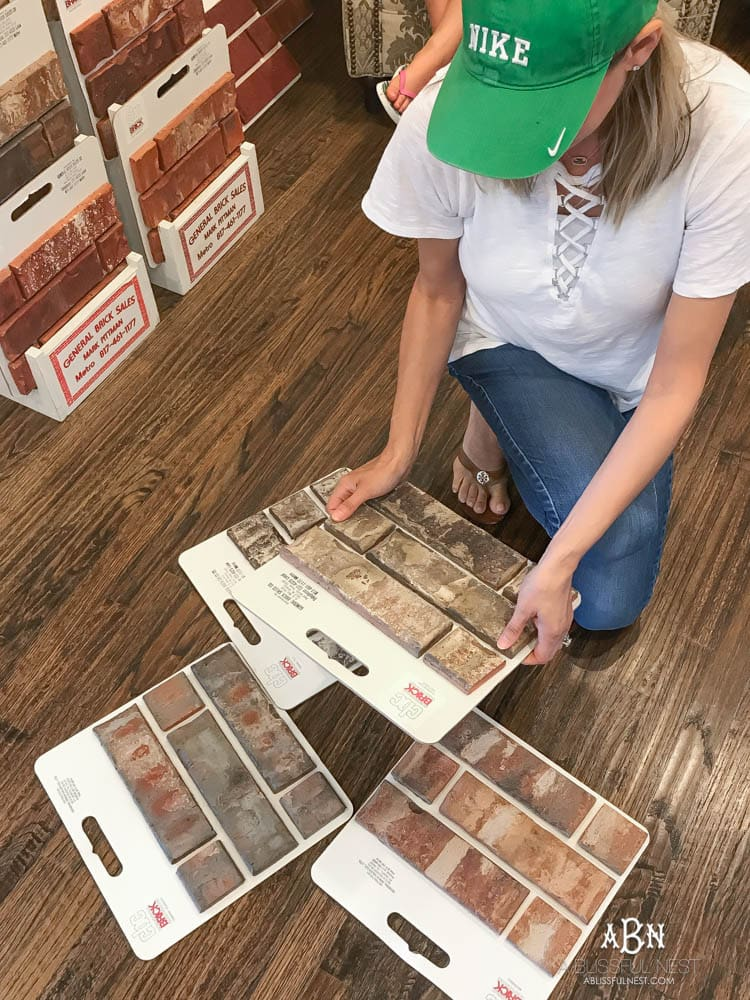 So many choices to pick from! If you're struggling with how to choose brick for your home, start by deciding on a color theme and go from there!