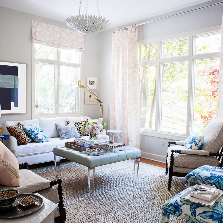 Mixing and matching the textures of throw pillows around the room gives a cohesive look of the room all together, even when styling throw pillows on multiple pieces of furniture