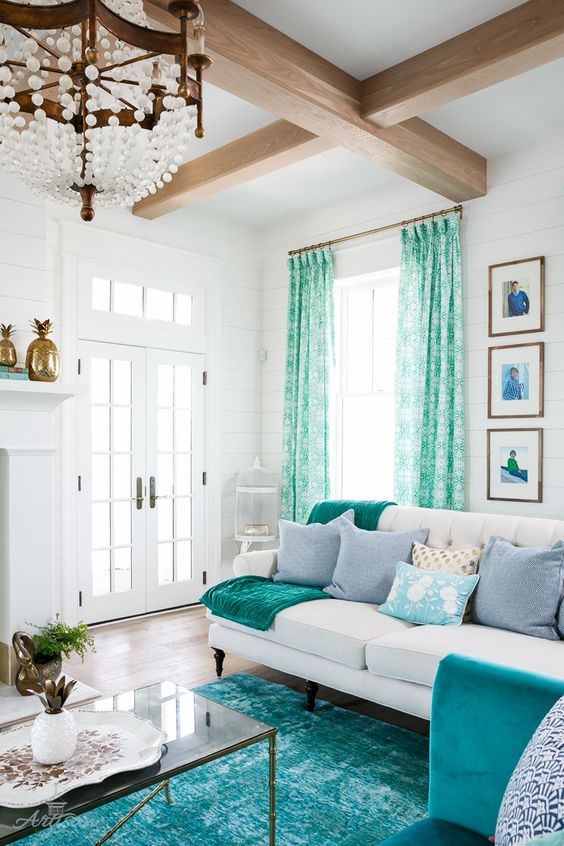 A Blissful Nest & How to Decorate with Turquoise - 5 Design Tips - A Blissful Nest