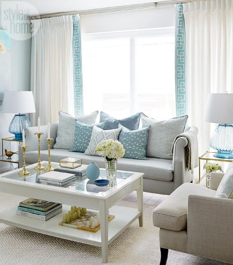 grey white turquoise living room color ideas yellow how to decorate with 5 design tips a blissful nest do you love the but don t know add it into