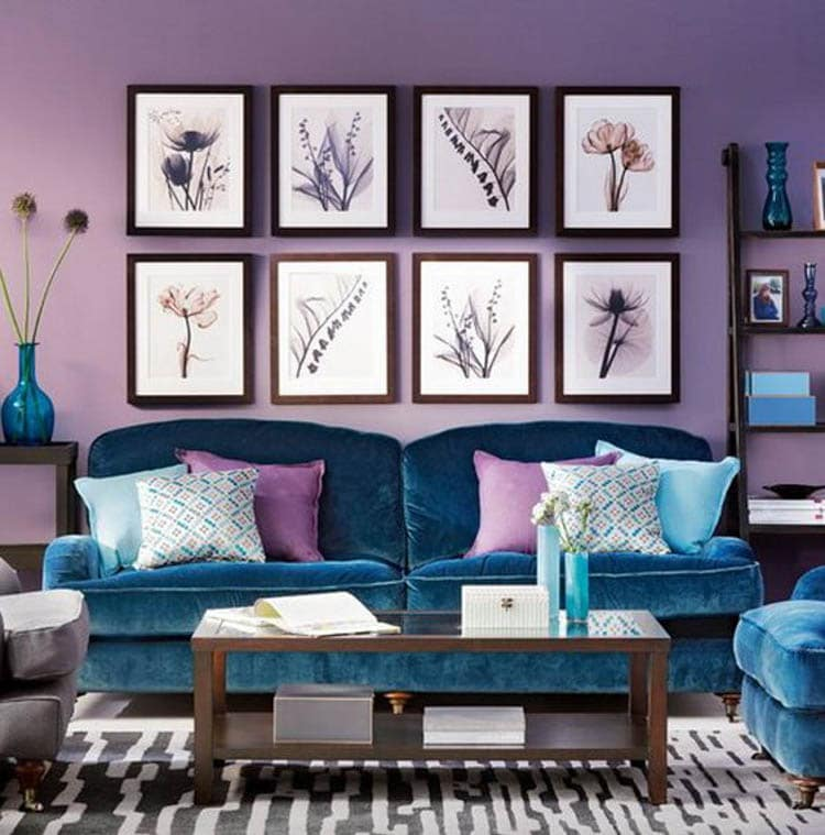 purple themed living room ideas redecorating ultra violet - how to decorate with pantone color of the ...