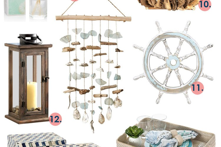 Our current favorite pieces to add some coastal flare to your home. #coastal #homedecorideas #coastaldecorating