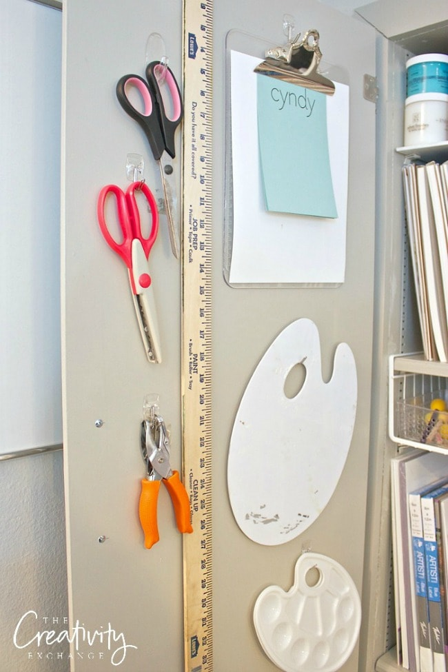 Get your craft space organized with the small Command hooks. The Creativity Exchange, 15 Things to do with Command Hooks in your Home