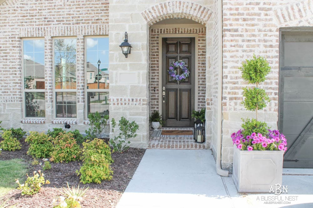 My Summer Front Porch + Entryway Reveal - A Blissful Nest