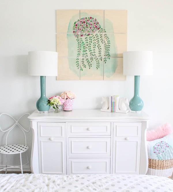 Little Girl's Room Refresh + Custom Wall Artwork