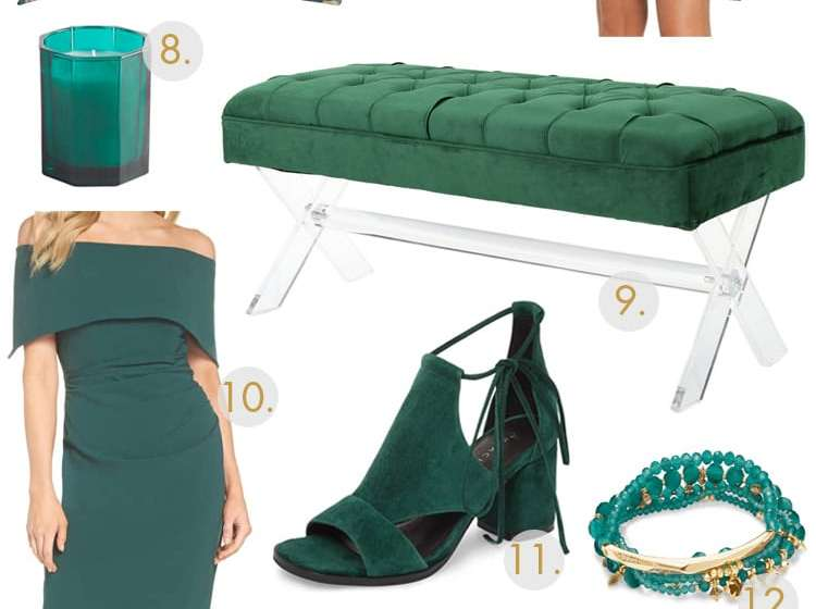 Go green and grab some of our favorite emerald green items! #ABlissfulNest #green