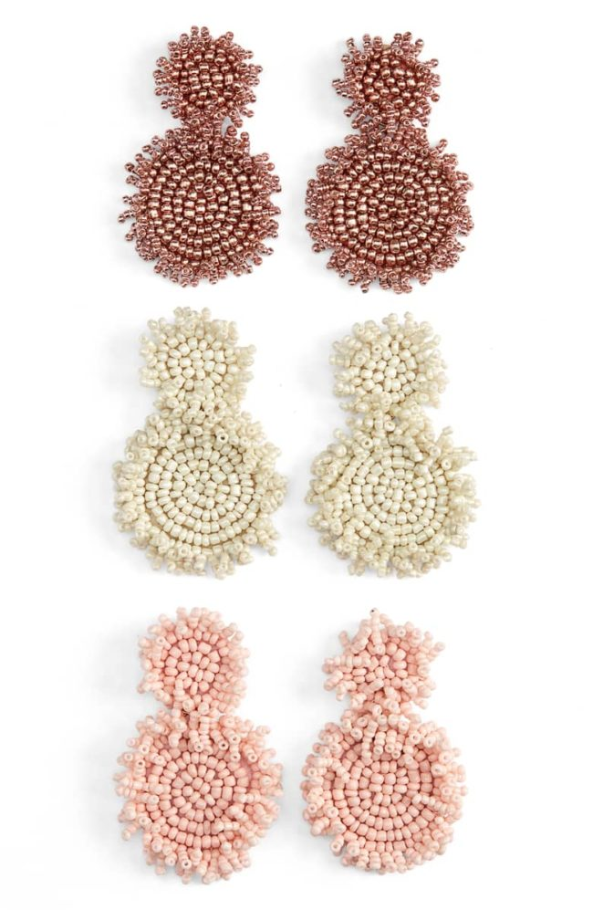 These gorgeous beaded earrings are on major sale this week!
