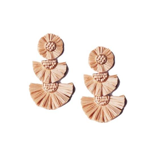 Super cute raffia earrings for under $12.