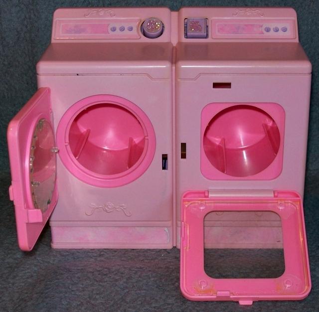 Barbie Waschmaschine Trockner mit Geräusch Möbel Zubehör ...